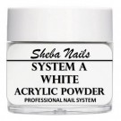 Sheba Nails - Selvjevnende akrylpulver - White - 15 ml thumbnail