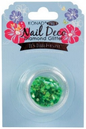 Konad Professional Nail Deco - Diamond Glitter - Blue Green
