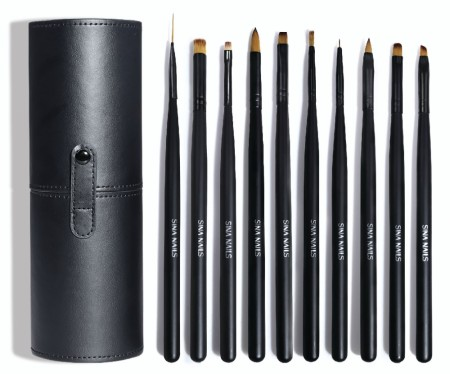 Micro Detail Nail Art Brush Set - Hard Case