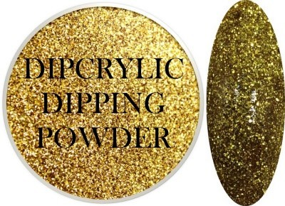 Dipcrylic Acrylic Dipping Powder - Glitter Collection - Sparkling Gold