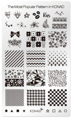 Konad Nail Art - Square Image Plate - The Most Popular Pattern in KONAD - 36