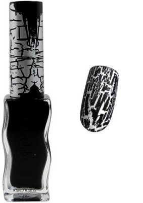 Konad Nail Art - Crackle Nail Polish - Black - CPC02