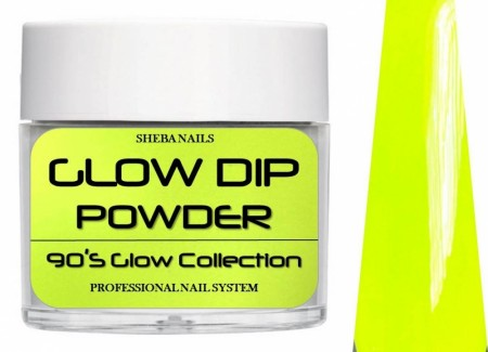 Dipcrylic Acrylic Dipping Powder - 90´s Flashback Glow Collection - Banana Clip