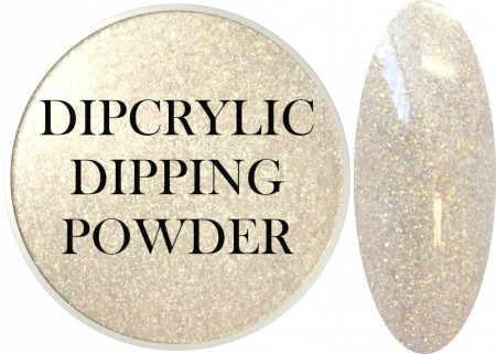 Dipcrylic Acrylic Dipping Powder - Glitter Collection - Golden Frost