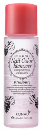 Konad Nail Color Remover with Protection - Strawberry