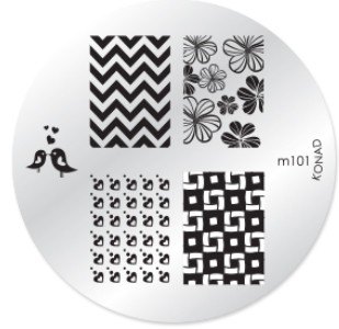 Konad Nail Art - Mønsterplate m101
