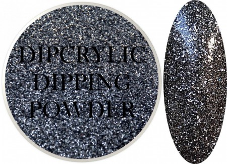 Dipcrylic Acrylic Dipping Powder - Glitter Collection - Gunmetal