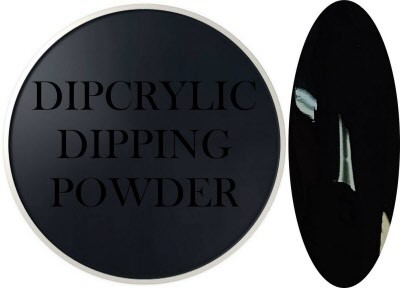 Dipcrylic Acrylic Dipping Powder - Art Collection - Pitch Black