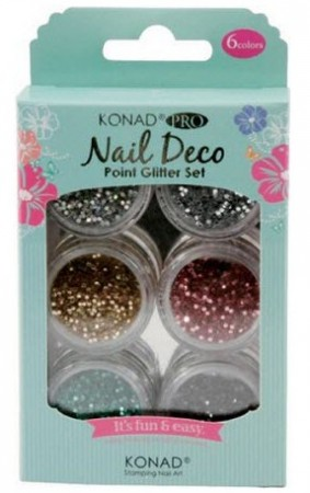 Konad Professional Nail Deco - Point Glitter Set