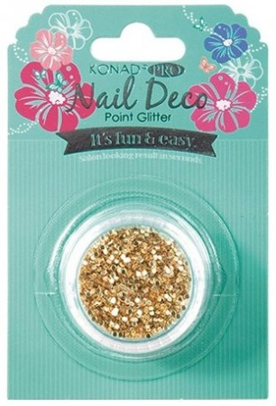 Konad Professional Nail Deco - Point Glitter - Gold