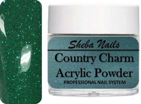 Country Charm Color Acrylic Powder - Evergreen