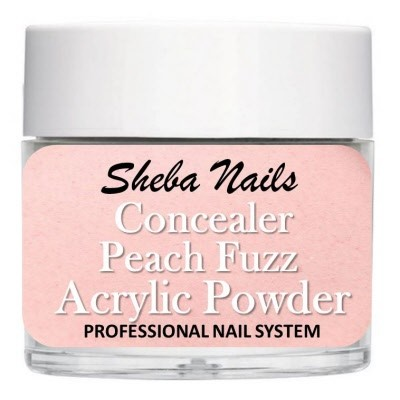 Sheba Nails - Concealer Acrylic Powder - Dekkende - Peach Fuzz - 15 ml