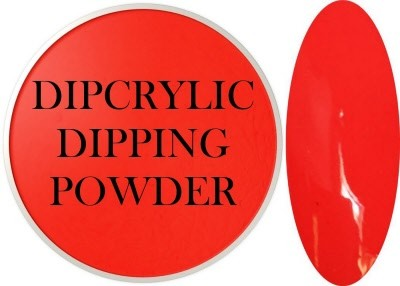 Dipcrylic Acrylic Dipping Powder - Neon Collection - Neon Red