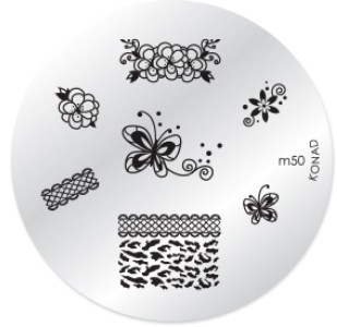 Konad Nail Art - Mønsterplate m50