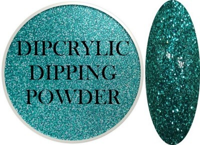Dipcrylic Acrylic Dipping Powder - Glitter Collection - Sparkling Turquoise