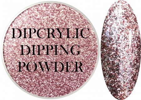 Dipcrylic Acrylic Dipping Powder - Glitter Collection - Sparkling Fuchsia Lights