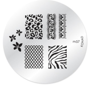 Konad Nail Art - Mønsterplate m57