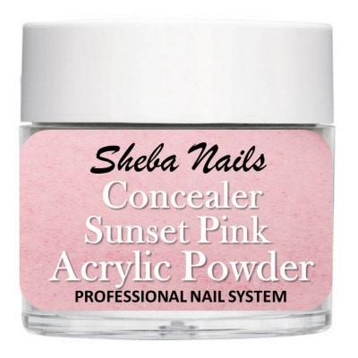 Sheba Nails - Concealer Acrylic Powder - Dekkende - Sunset Pink - 15 ml