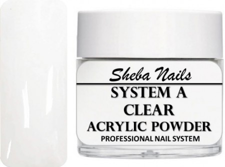 Sheba Nails - Selvjevnende akrylpulver - Clear - 60 ml