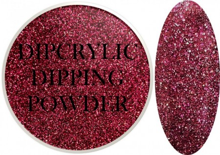 Dipcrylic Acrylic Dipping Powder - Glitter Collection - Sparkling Fuchsia