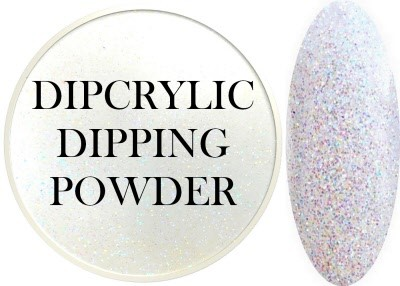 Dipcrylic Acrylic Dipping Powder - Glitter Collection - Sparkling Angel