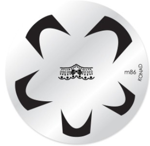 Konad Nail Art - Mønsterplate m86