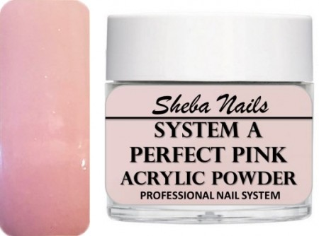 Sheba Nails - Selvjevnende akrylpulver - Perfect Pink - 15 ml