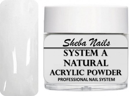 Sheba Nails - Selvjevnende akrylpulver - Natural - 30 ml