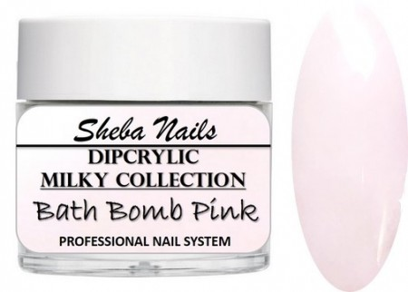 Dipcrylic Acrylic Dipping Powder - Milkies Collection - Bath Bomb Pink