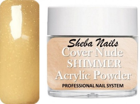 Sheba Nails - Cover Acrylic Powder Collection - Cover Shimmer Nude - 15 ml