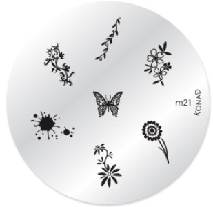Konad Nail Art - Mønsterplate m21