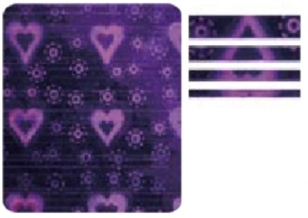 3D Holo Laser Strip Tape Nail Stickers STTP-18