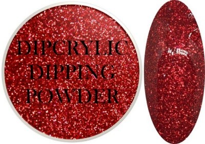 Dipcrylic Acrylic Dipping Powder - Glitter Collection - Sparkling Red