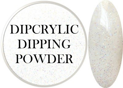 Dipcrylic Acrylic Dipping Powder - Glitter Collection - Sparkling White