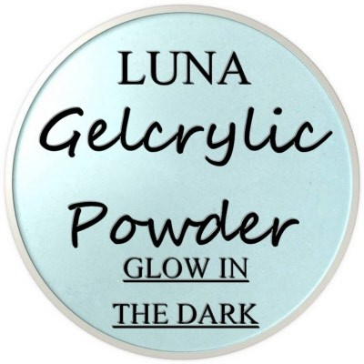 Gelcrylic Powder - Luna Glow In the Dark Collection - Blue Moon