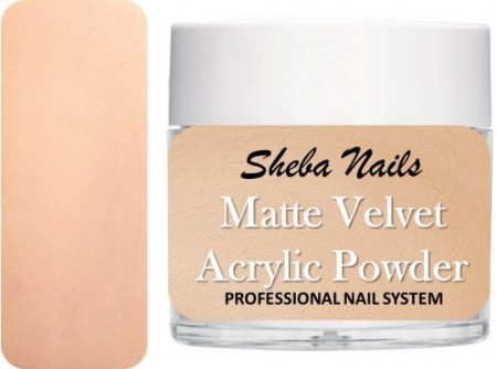 Matte Velvet Color Acrylic Powder - Porcelain