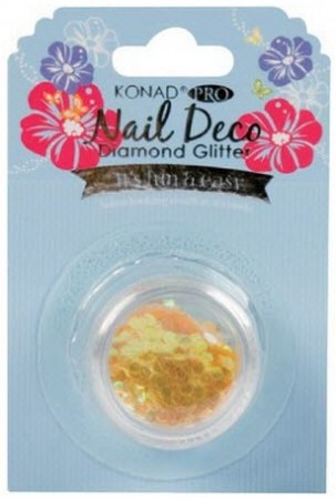 Konad Professional Nail Deco - Diamond Glitter - Yellow