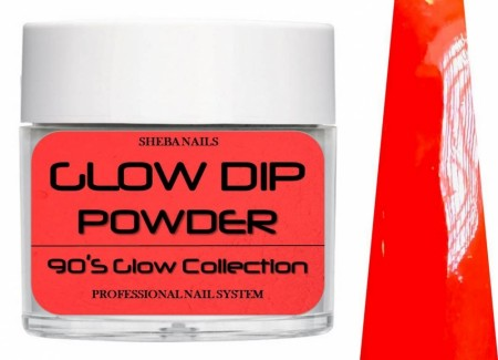 Dipcrylic Acrylic Dipping Powder - 90´s Flashback Glow Collection - Teen Heart Throb